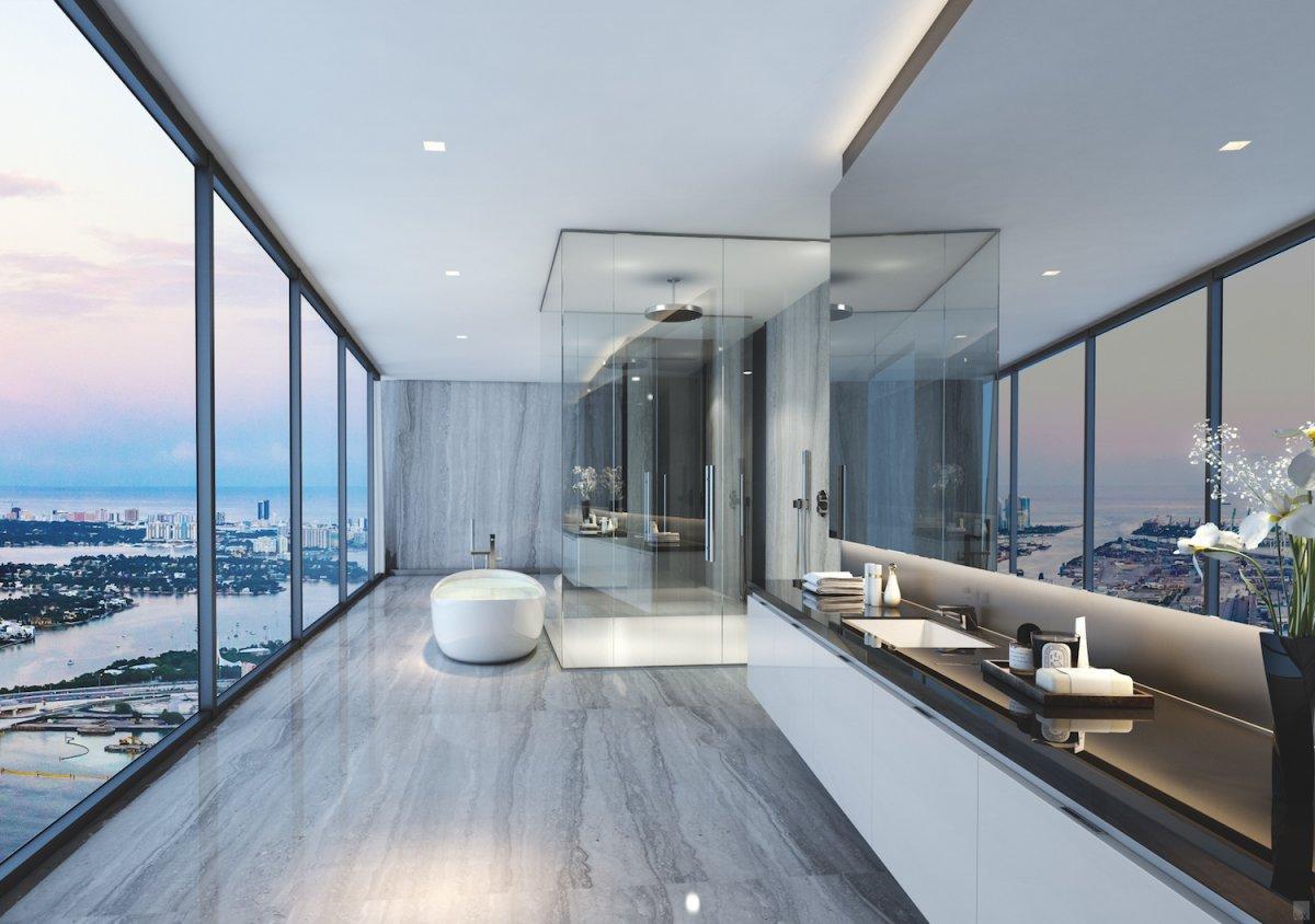 6 bath view
