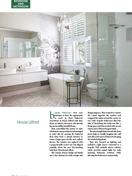 Designing Ways March 2019 pg 42 - Bespoke Bathrooms