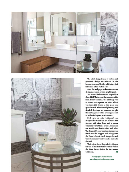 Designing Ways March 2019 pg 43 - Bespoke Bathrooms