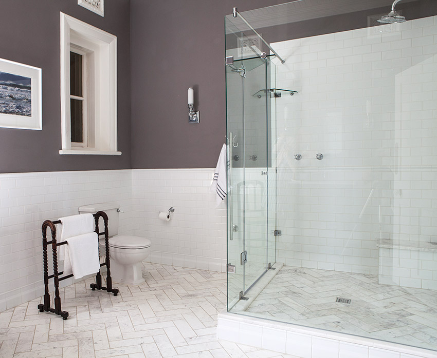 House De Grendal boy's bathroom shower - Bespoke Bathrooms