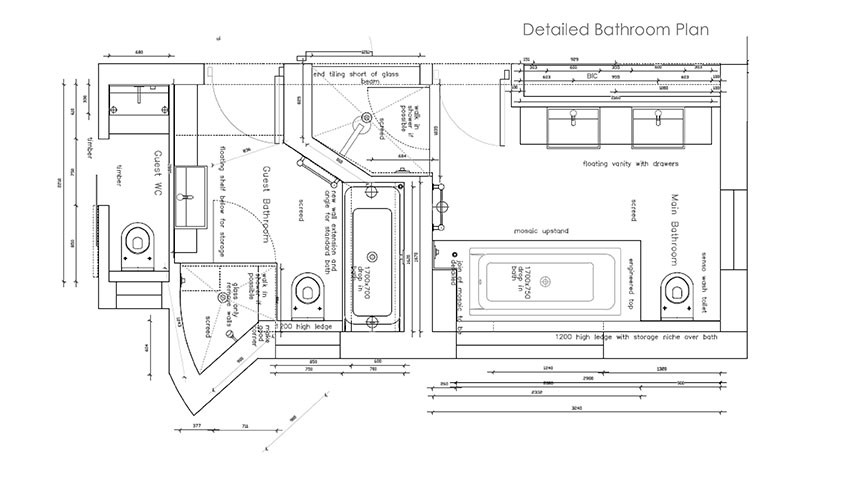 Services - Plans - Detailed - Bespoke Bathrooms