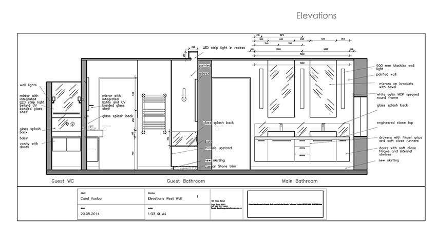 Services - Plans - Elevations - Bespoke Bathrooms