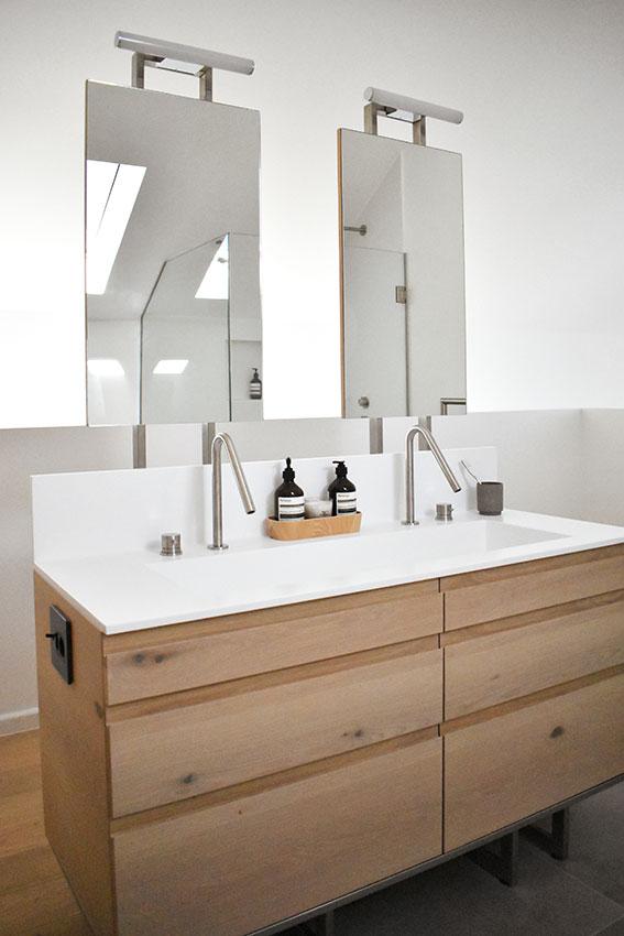 Van Steensel Main vanity with mirrors - Bespoke-Bathrooms