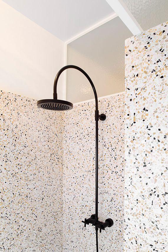 Terrazzo used in shower