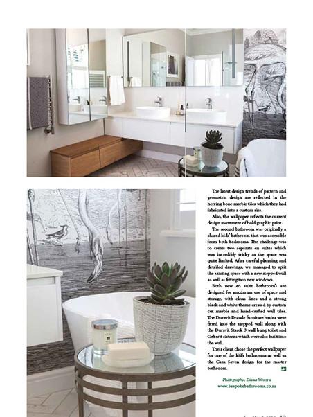 Designing Ways March 2019 pg 43 - Bespoke Bathrooms