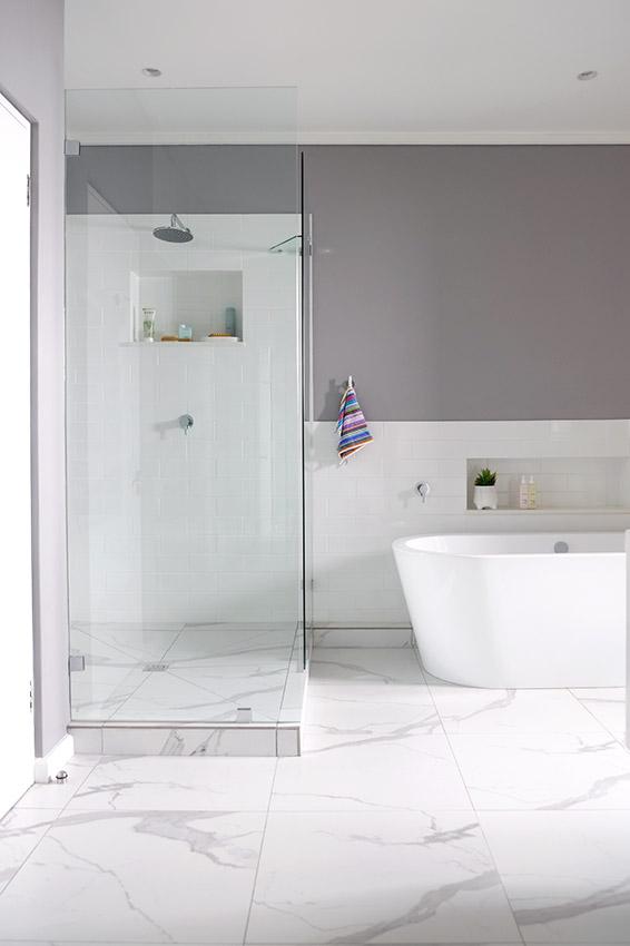 House Ravine Road Bathroom Shower and Bath - Bespoke Bathrooms