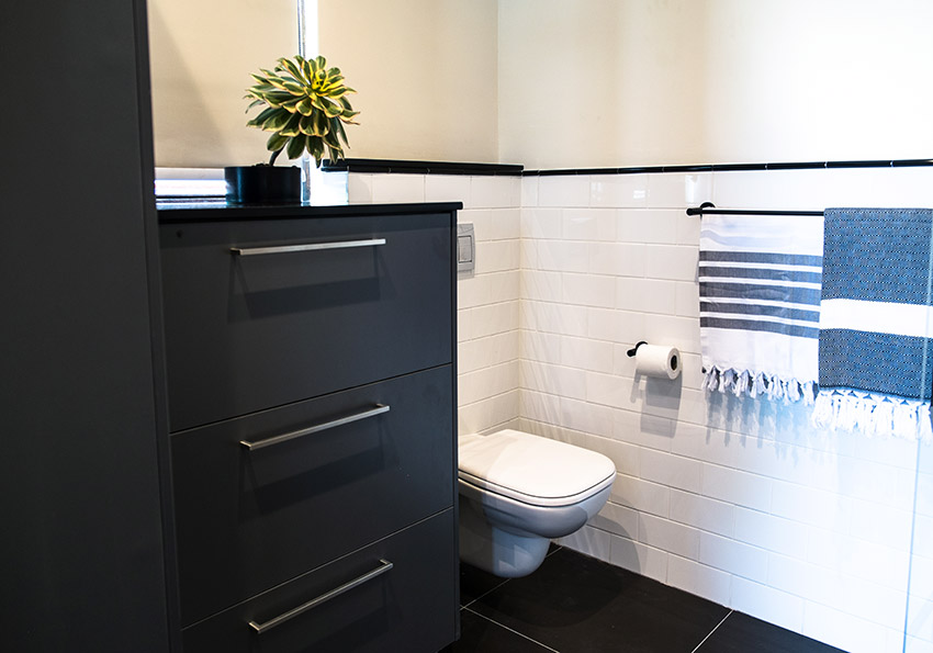 House Van Rooyen Guest Toilet - Bespoke Bathrooms