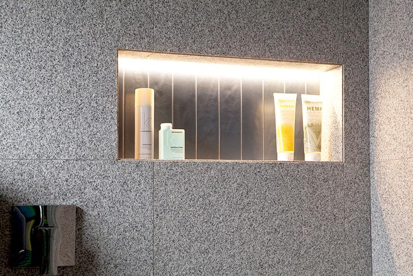 Three Anchor Bay Guest Shower Niche - Bespoke-Bathrooms