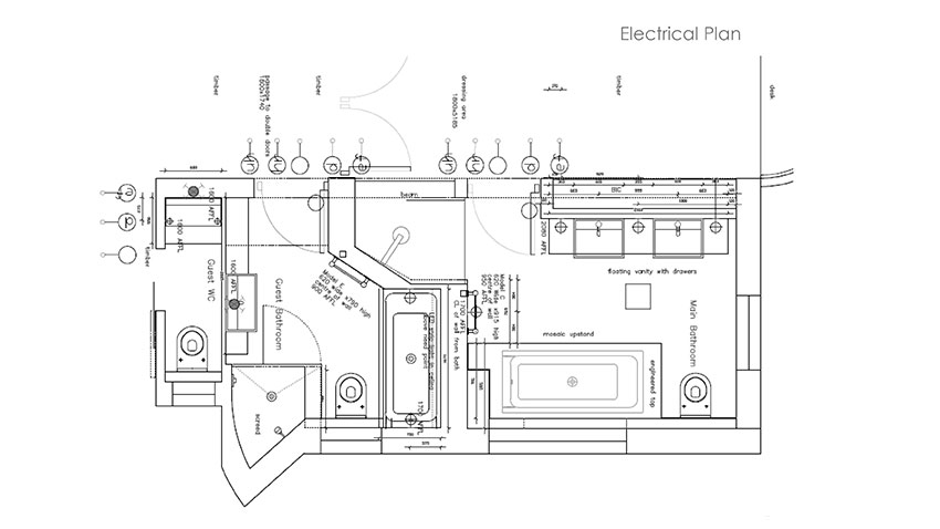 Services - Plans - Electrical - Bespoke Bathrooms