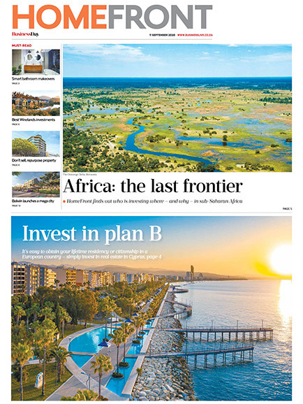 Business Day Homefront 11 Sept 2020 - Cover
